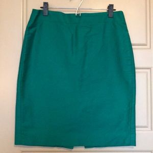 J. Crew No. 2 Pencil Skirt 10 Kelly Green